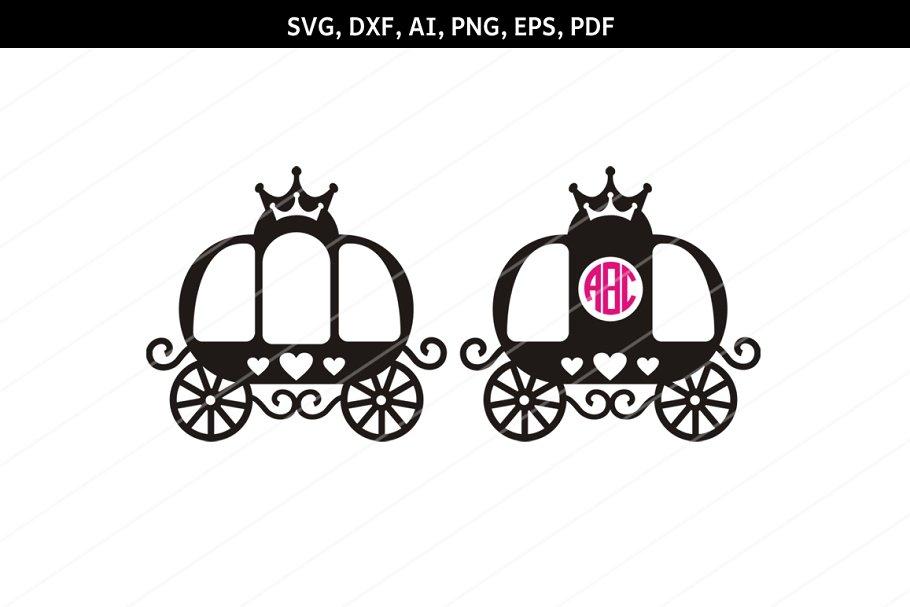 Princess carriage SVG, Carriage Clip