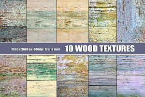 PAINTED WOOD TEXTURES PASTEL
