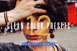 12 Clean Color Presets for Lightroom