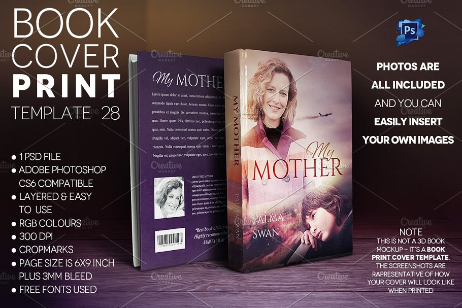 Book Cover PRINT Template 28