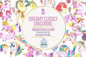CUTE DREAMY UNICORN BUNDLE 79 Files