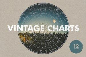 Vintage Charts - 12 Vectors