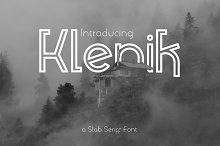 Klenik   a Slab Seriff Font by  in Slab Serif Fonts