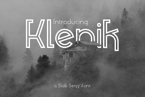 Klenik | a Slab Seriff Font