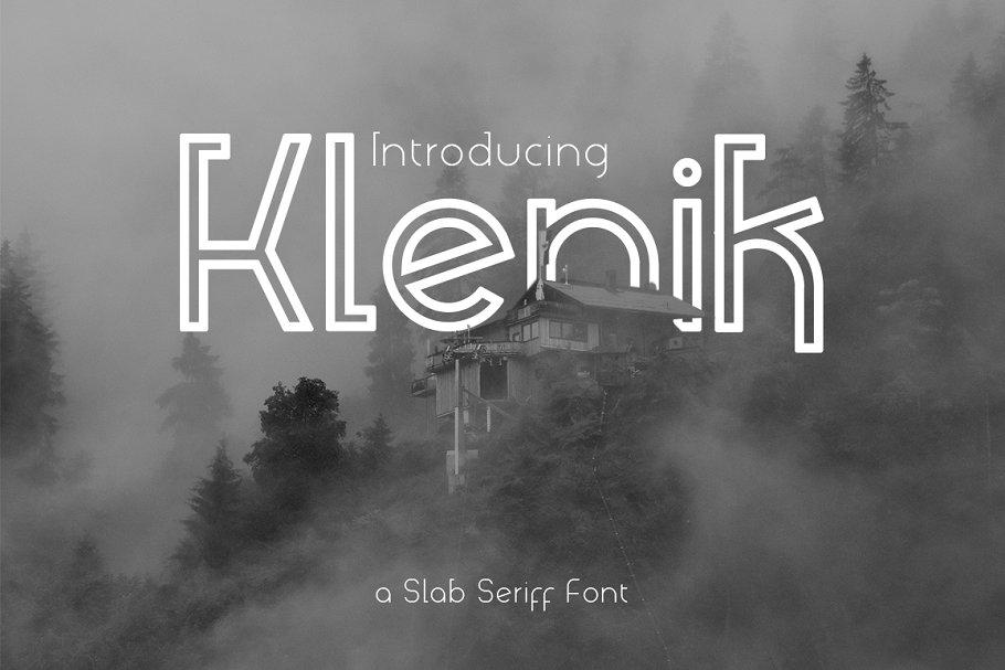Klenik   a Slab Seriff Font