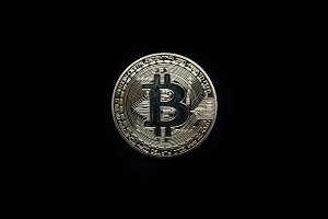 Physical gold Bitcoin isolated