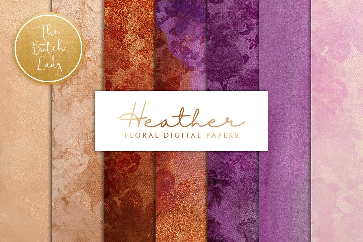 Floral Backgrounds & Paper - Heather