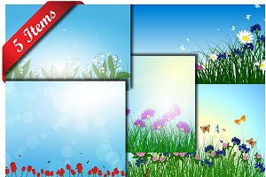 5 Color Meadow Designs