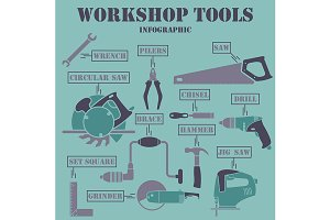 Workshop Tools Infographics