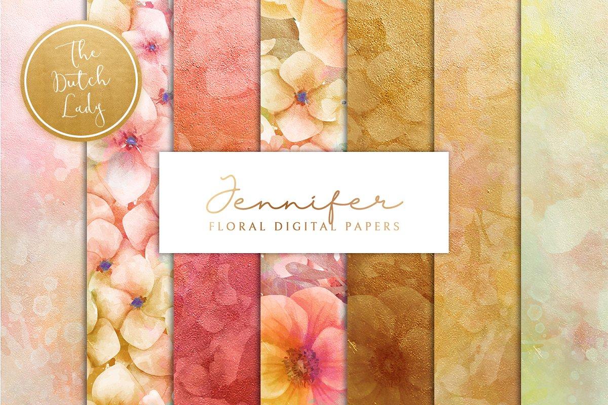 Floral Background & Paper - Jennifer