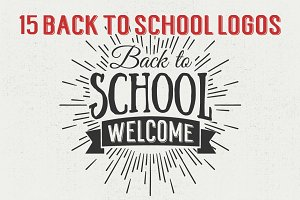 15 Back to School Logos and Badges