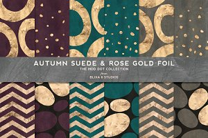 Autumn Suede & Rose Gold Foil