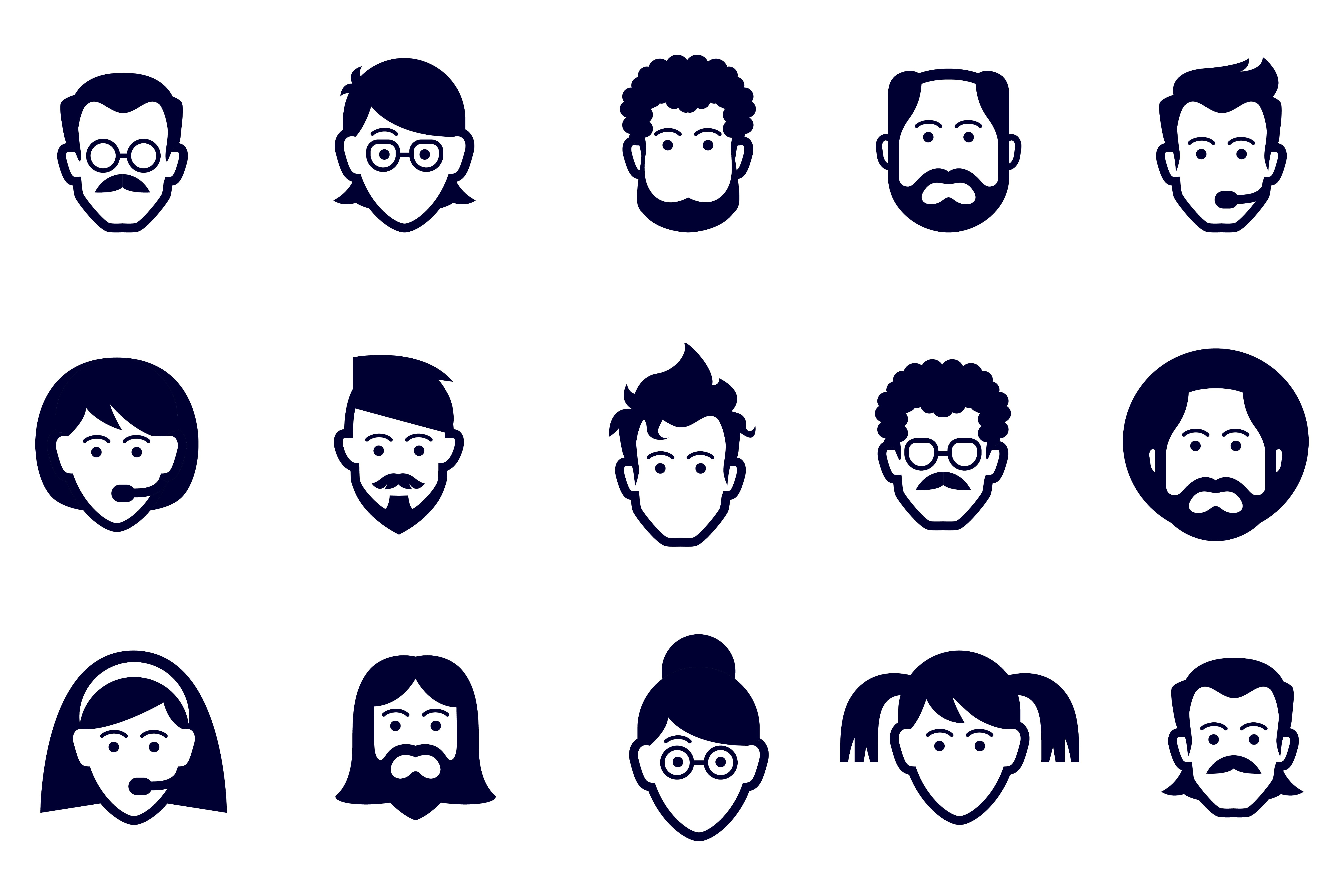 Discover over 2700 face icons creative market face icons biocorpaavc