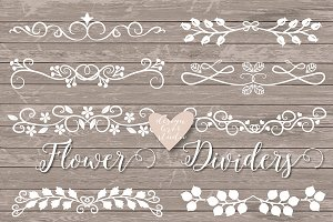 Vector Floral Dividers cliparts