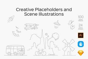 Placeholders & Scene Illustrations