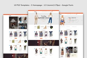 Yaris-eCommerce PSD Template