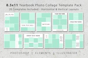 8.5x11 Photo Yearbook Album Template