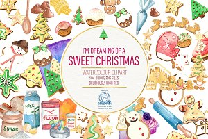 Christmas Cookies 104 Clipart Bundle
