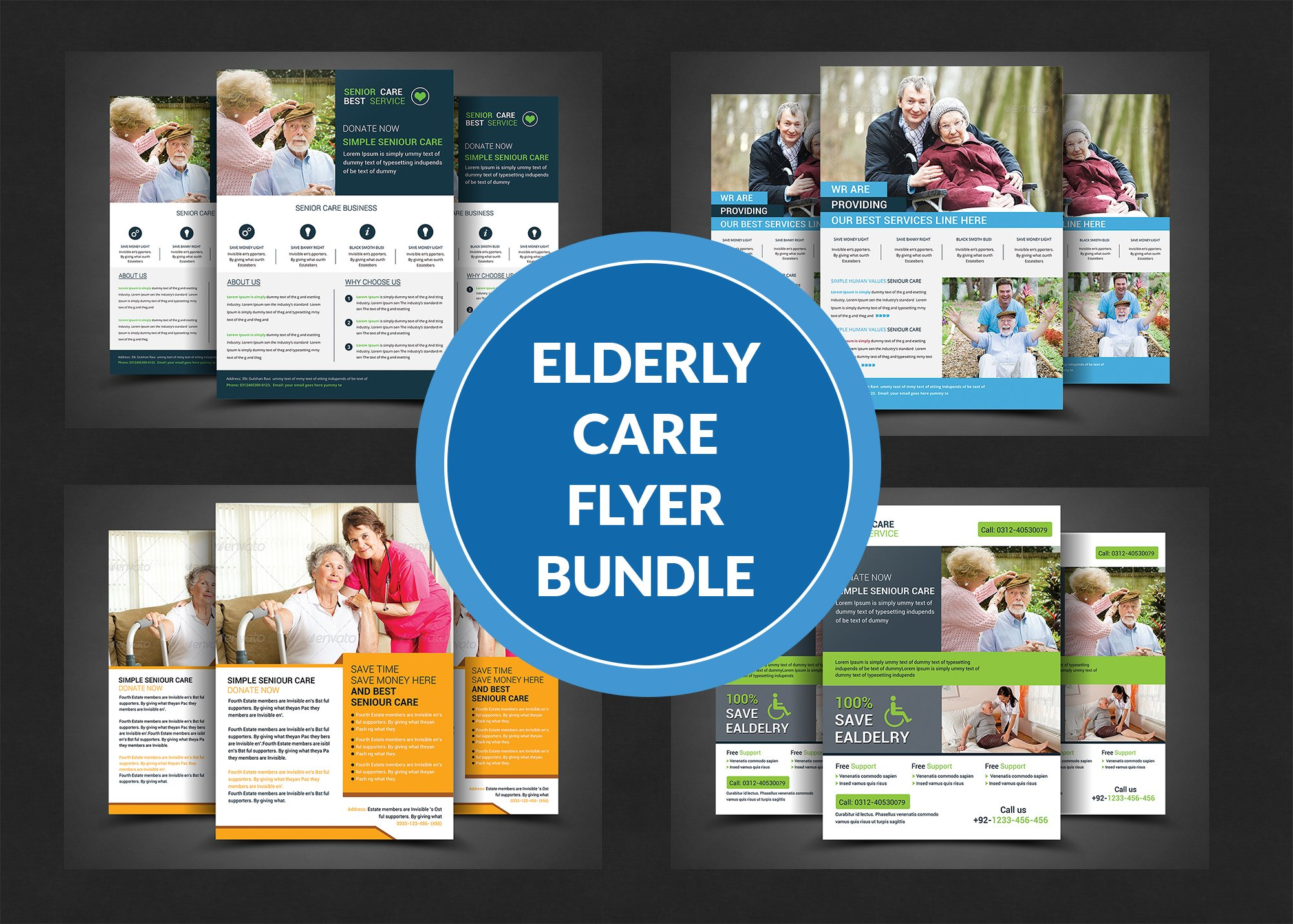 Home Care Flyer Template Photos Graphics Fonts Themes - Home care brochure template