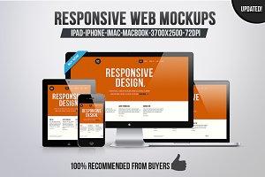 12 Responsive Web Mockups (50% OFF)