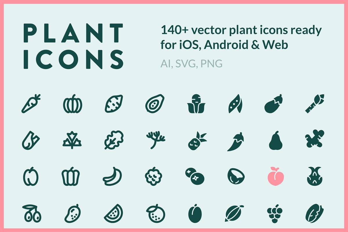 PLANTICONS - line icons & glyphs