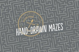 3 Hand-drawn Mazes