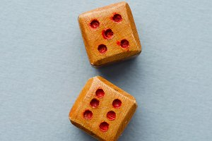 Wooden dices