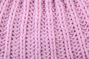 Knitted pink background