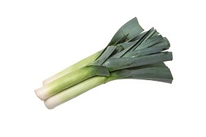 Leek isolated on white