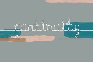 Continuity. One Line Font