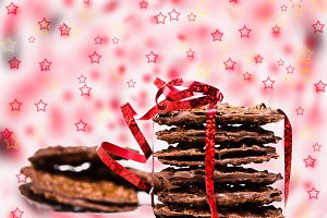 Chocolate cookies and stars
