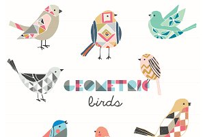 Geometric Birds EPS