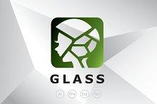 Broken Glass Girl Logo Template