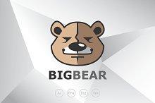 Big and Confidence Bear Logo Templat