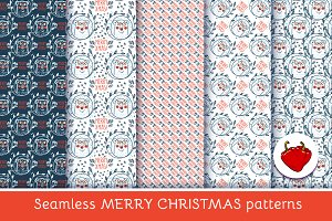 Christmas pattern with polar bears