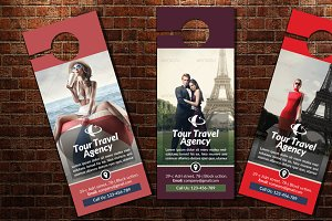 Tour Travel Door Hanger Template