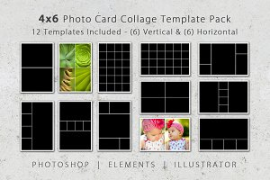 4x6 Photo Card Collage Template Pack