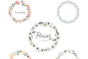 Flower Monograms EPS