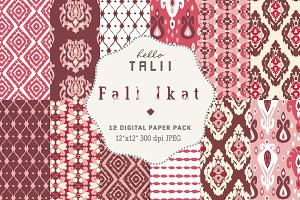 Ikat Digital Paper