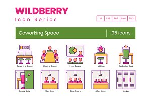 95 Coworking Space Icons | Wildberry