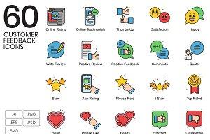 60 Customer Feedback Icons | Vivid