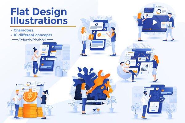 Modern Flat design Business concepts
