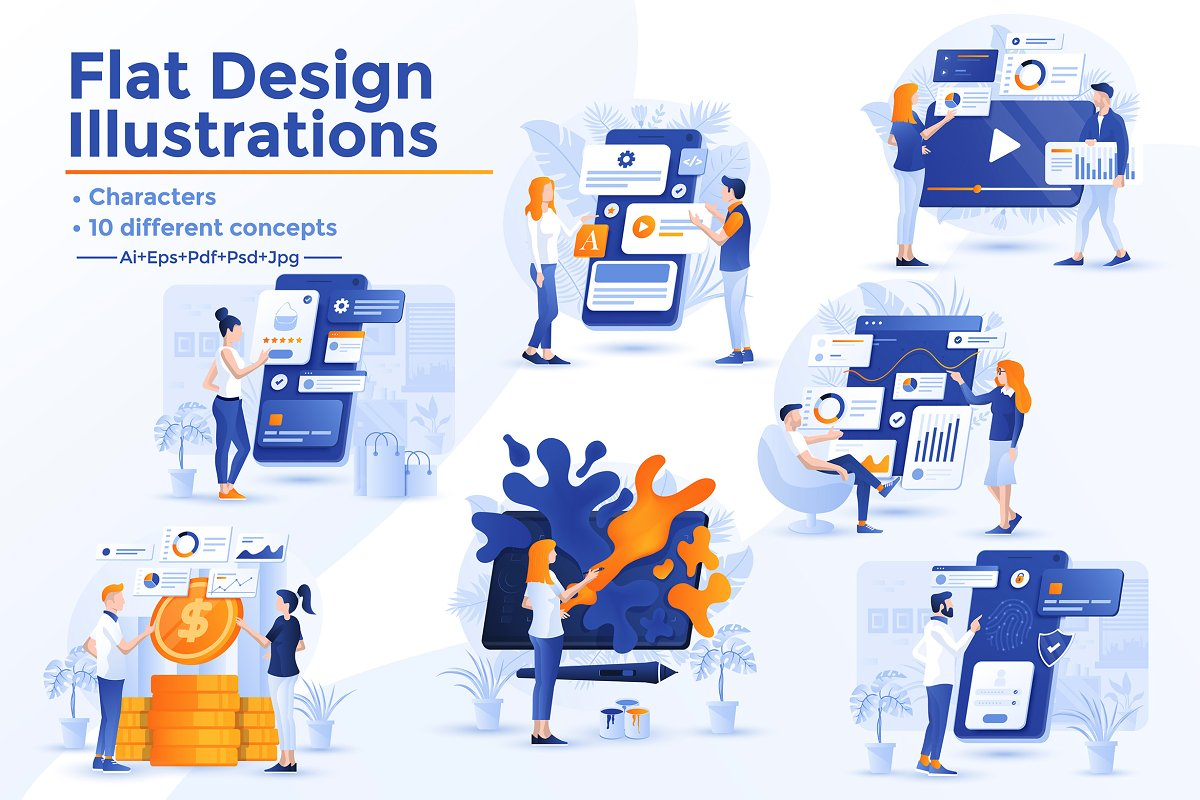 Modern Flat design Business concepts in Illustrations - product preview 8