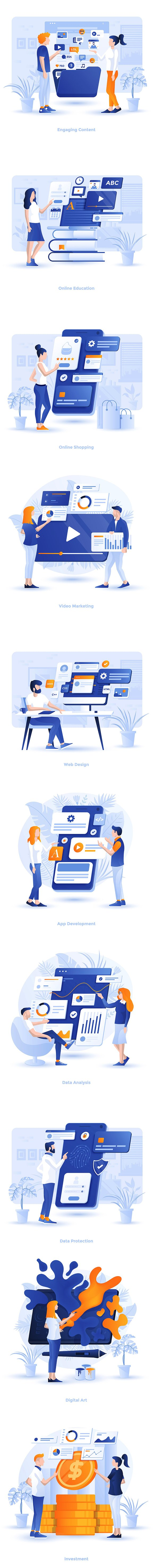 Modern Flat design Business concepts in Illustrations - product preview 11