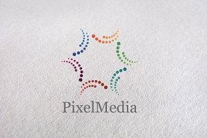 Star Pixel / circle / printing logo