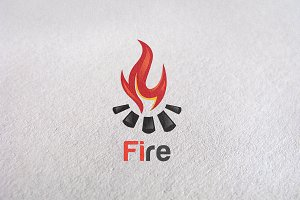 fire logo,burn, flame, gas, element