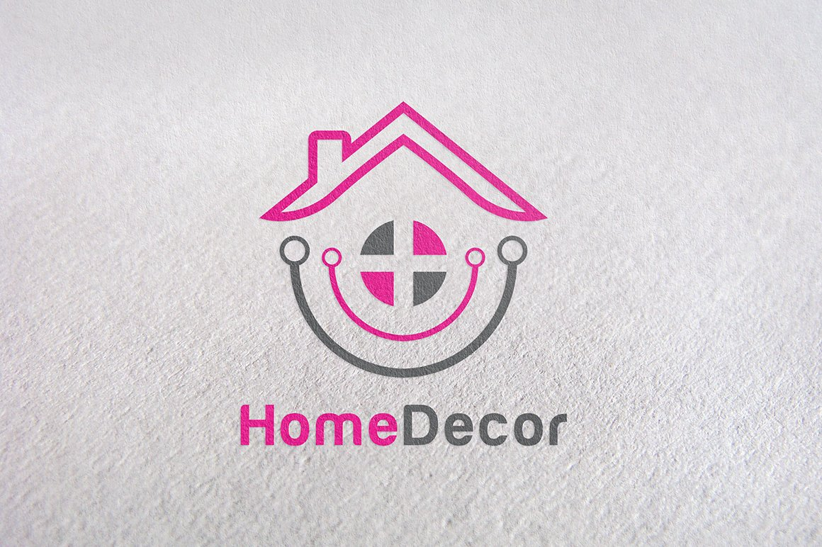 Decorate furniture home product logo templates for Home interiors logo