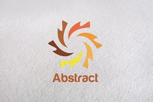 abtract, photo, startup, circle logo