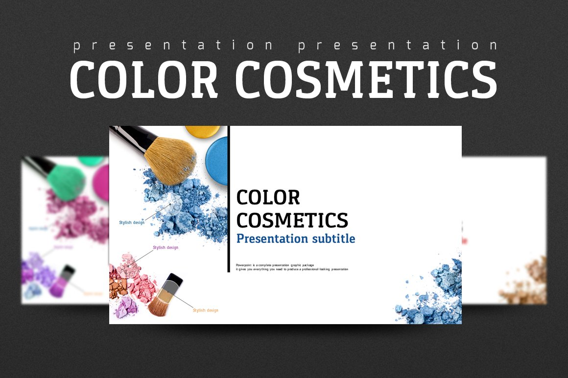 Color cosmetics presentation templates creative market toneelgroepblik