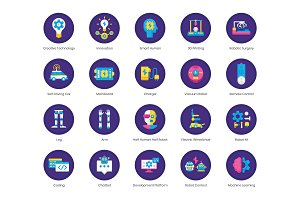Robotics Technology Icons | Orchid